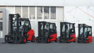 Elektrické vysokozdvižné vozíky od společnosti Linde Material Handling spohonem skompaktní nápravou