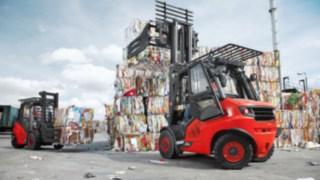 Vysokozdvižné vozíky se spalovacím motorem od společnosti Linde Material Handling shydrostatickým pohonem