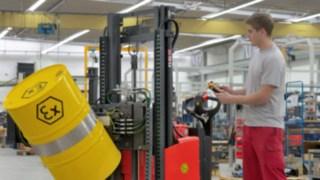 Vysokozdvižné vozíky EX od společnosti Linde Material Handling skonstrukcí zajišťující ochranu proti výbuchu