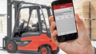 Kontrolní aplikace softwaru pro správu vozového parku od společnosti Linde