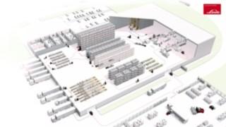 Znázornění procesů ve schematickém skladu zboží